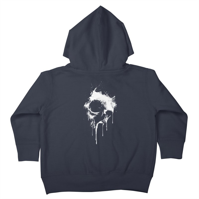 Melted Skull Kids Toddler Zip-Up Hoody by mitchdosdos's Shop