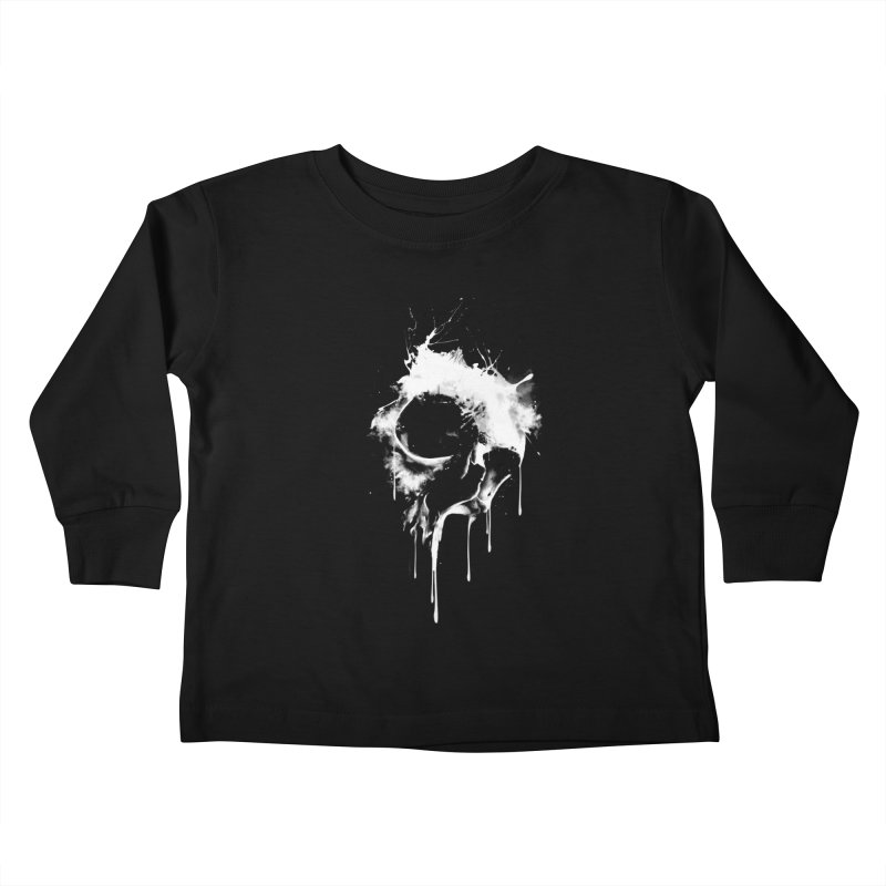 Melted Skull Kids Toddler Longsleeve T-Shirt by mitchdosdos's Shop