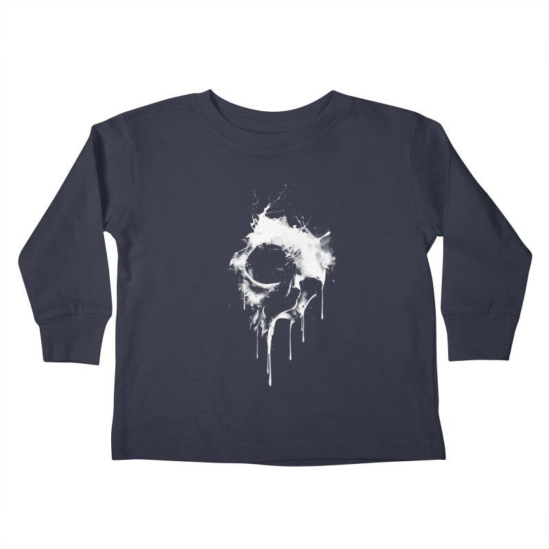 Melted Skull Kids Toddler Longsleeve T-Shirt by mitchdosdos's Shop