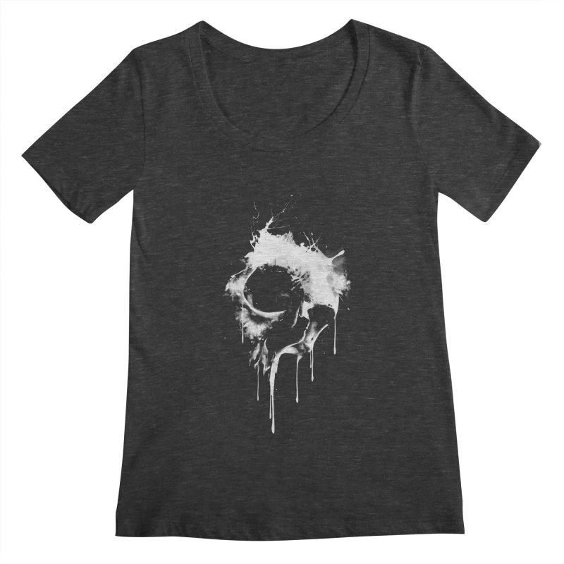 Melted Skull Women's Scoopneck by mitchdosdos's Shop