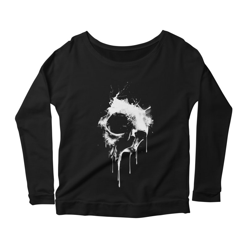 Melted Skull Women's Longsleeve Scoopneck  by mitchdosdos's Shop