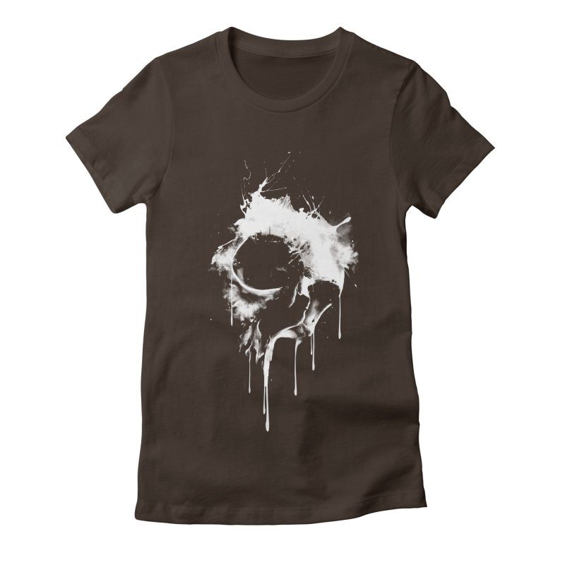 Melted Skull Women's Fitted T-Shirt by mitchdosdos's Shop