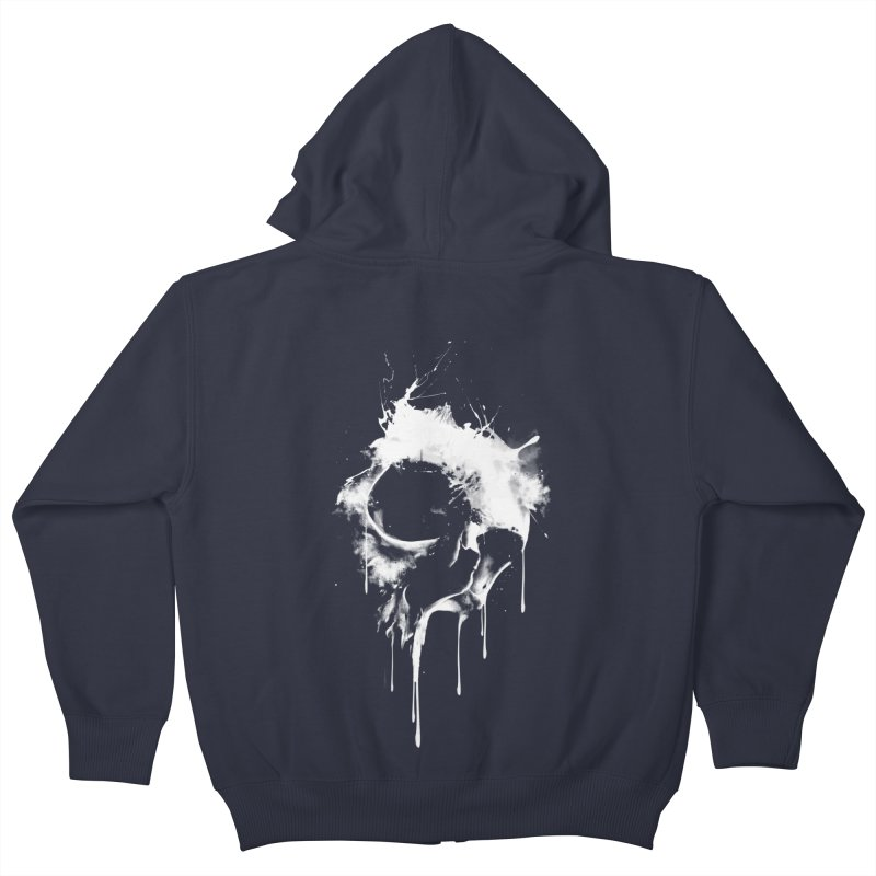 Melted Skull Kids Zip-Up Hoody by mitchdosdos's Shop