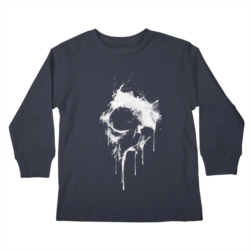 Melted Skull Kids Longsleeve T-Shirt by mitchdosdos's Shop