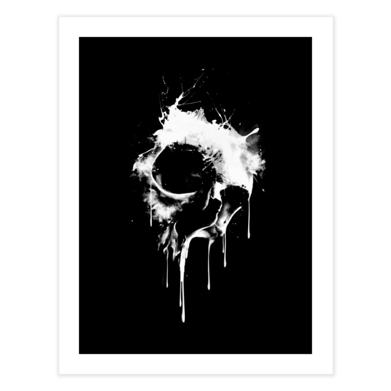 Melted Skull Home Fine Art Print by mitchdosdos's Shop