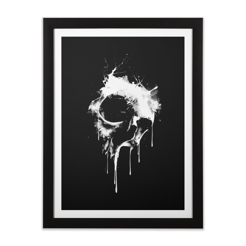 Melted Skull Home Framed Fine Art Print by mitchdosdos's Shop