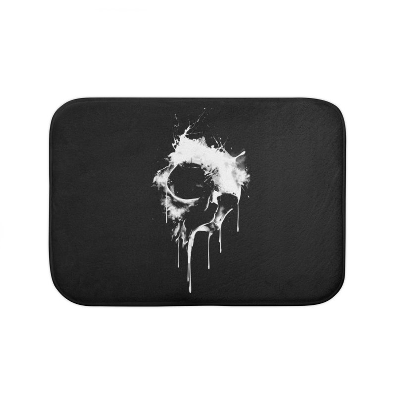 Melted Skull Home Bath Mat by mitchdosdos's Shop