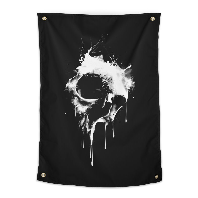 Melted Skull Home Tapestry by mitchdosdos's Shop
