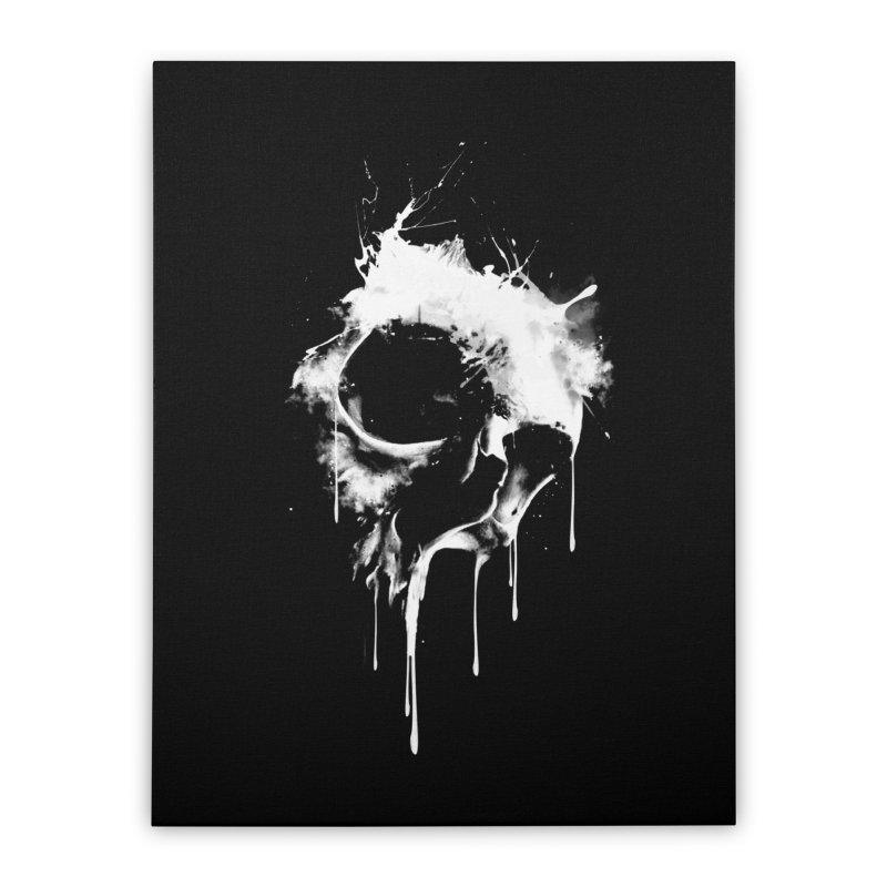 Melted Skull Home Stretched Canvas by mitchdosdos's Shop