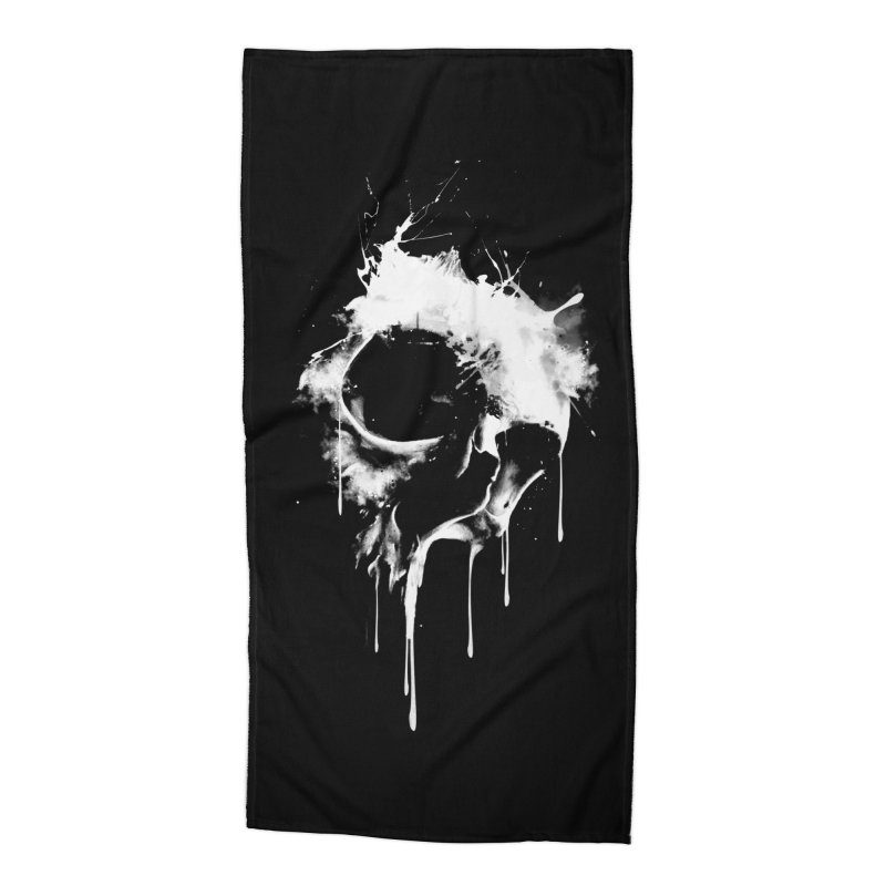 Melted Skull Accessories Beach Towel by mitchdosdos's Shop