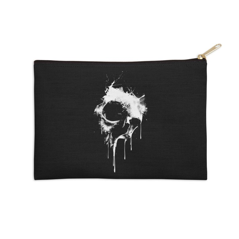 Melted Skull Accessories Zip Pouch by mitchdosdos's Shop