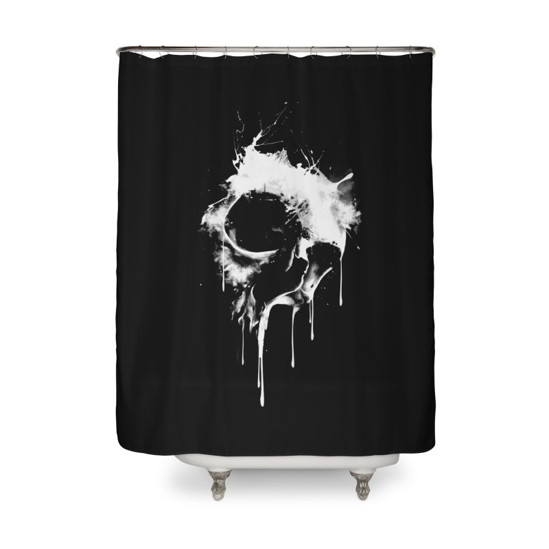 Melted Skull Home Shower Curtain by mitchdosdos's Shop