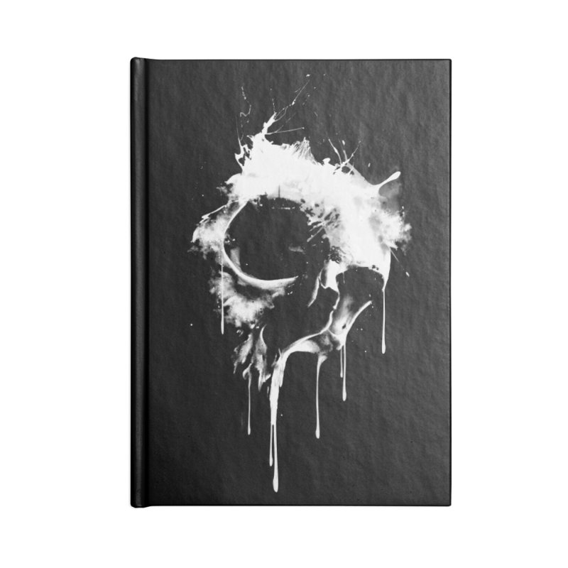 Melted Skull Accessories Notebook by mitchdosdos's Shop