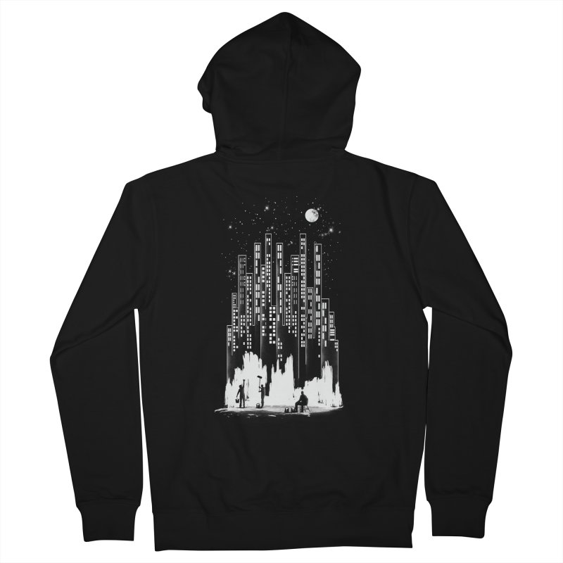 Midnight Painter Men's Zip-Up Hoody by mitchdosdos's Shop