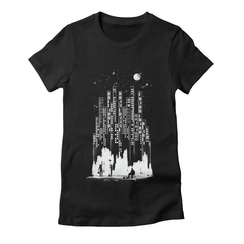 Midnight Painter Women's Fitted T-Shirt by mitchdosdos's Shop