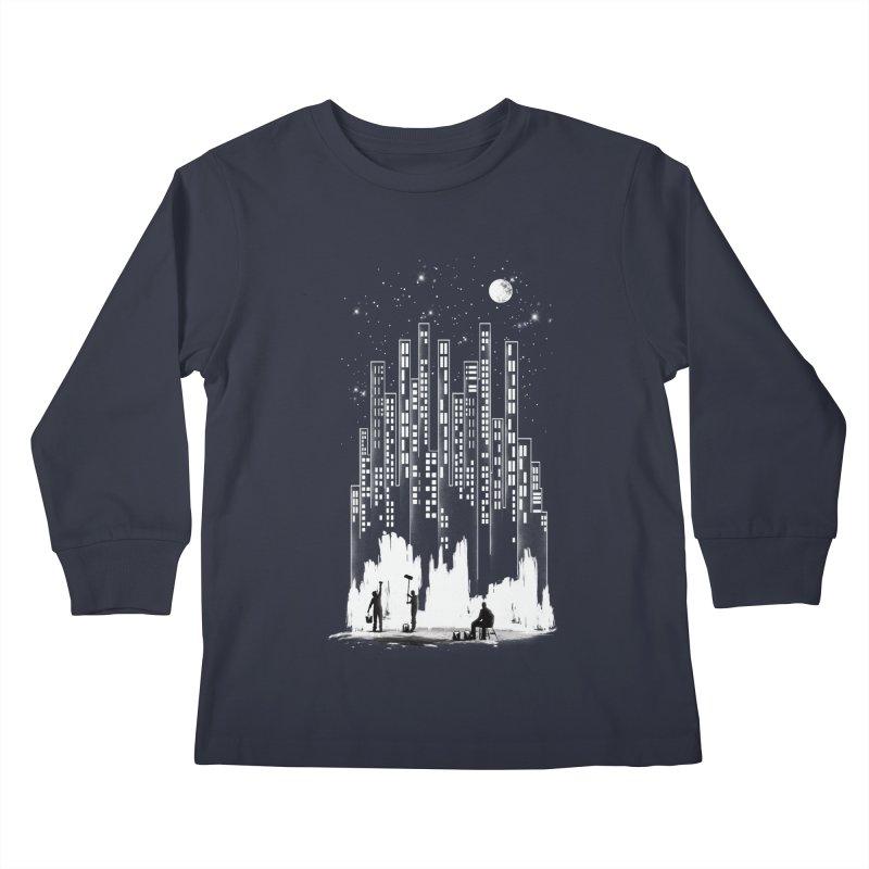 Midnight Painter Kids Longsleeve T-Shirt by mitchdosdos's Shop