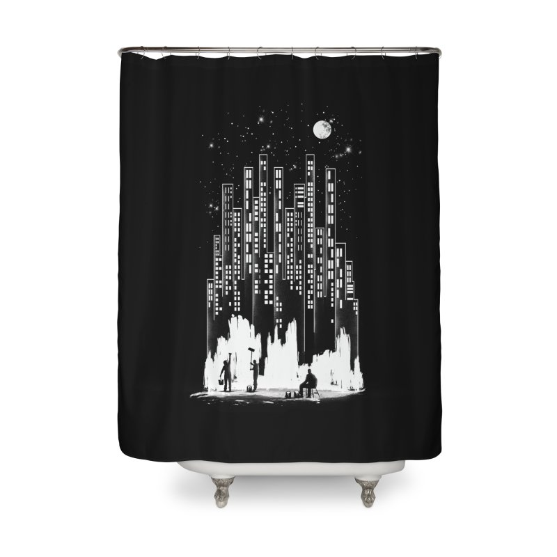 Midnight Painter Home Shower Curtain by mitchdosdos's Shop