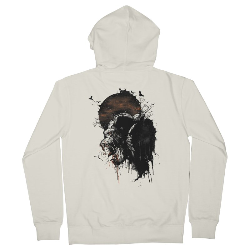 Raging Gorilla Men's Zip-Up Hoody by mitchdosdos's Shop