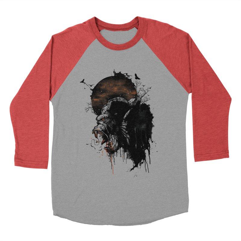 Raging Gorilla Men's Baseball Triblend T-Shirt by mitchdosdos's Shop