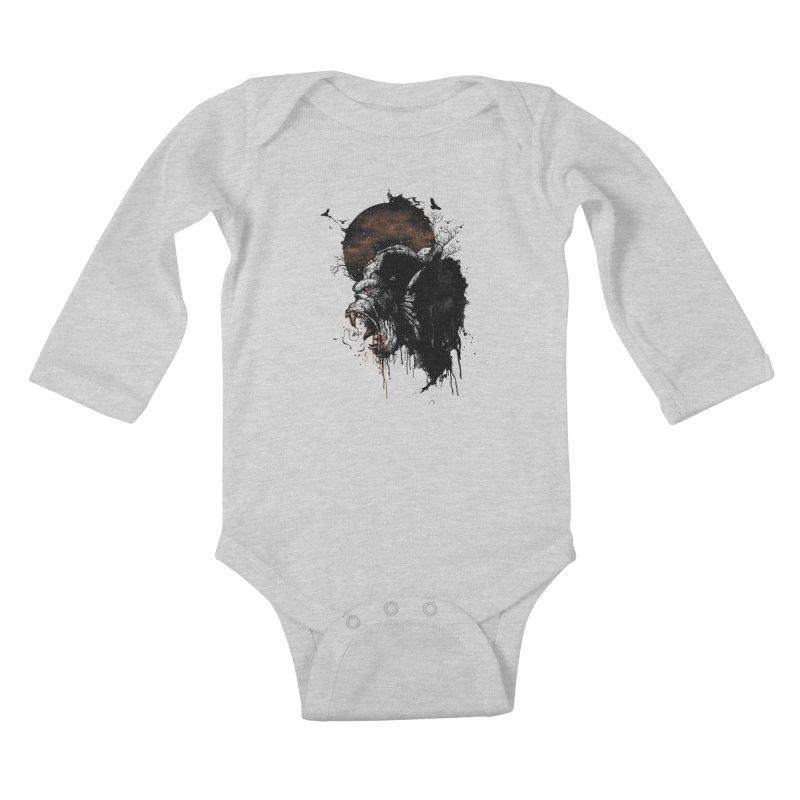 Raging Gorilla Kids Baby Longsleeve Bodysuit by mitchdosdos's Shop