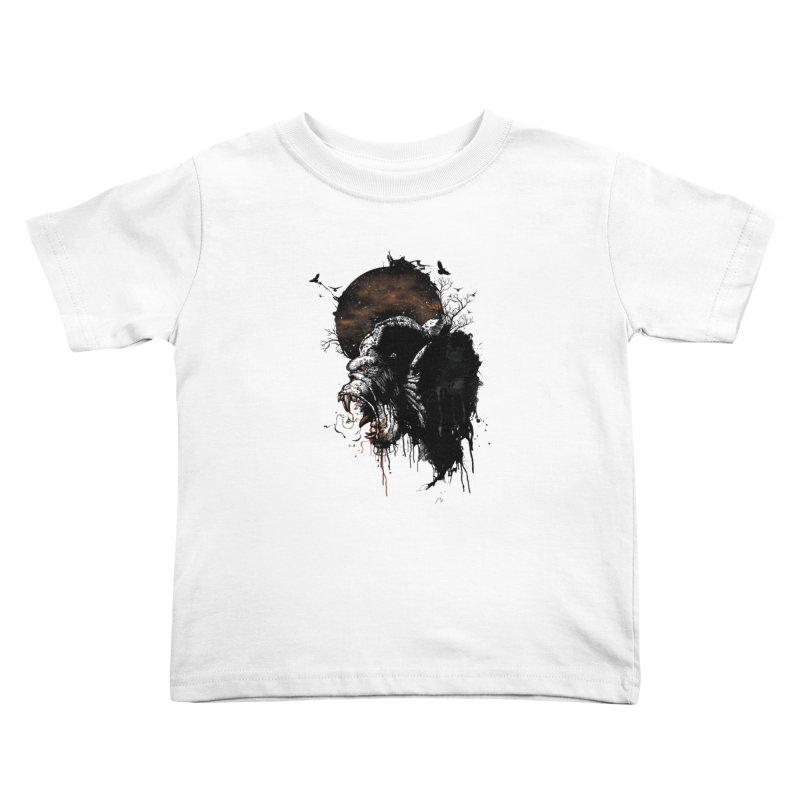 Raging Gorilla Kids Toddler T-Shirt by mitchdosdos's Shop