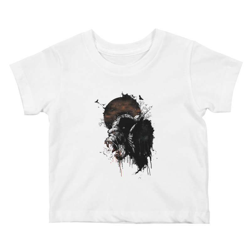Raging Gorilla Kids Baby T-Shirt by mitchdosdos's Shop