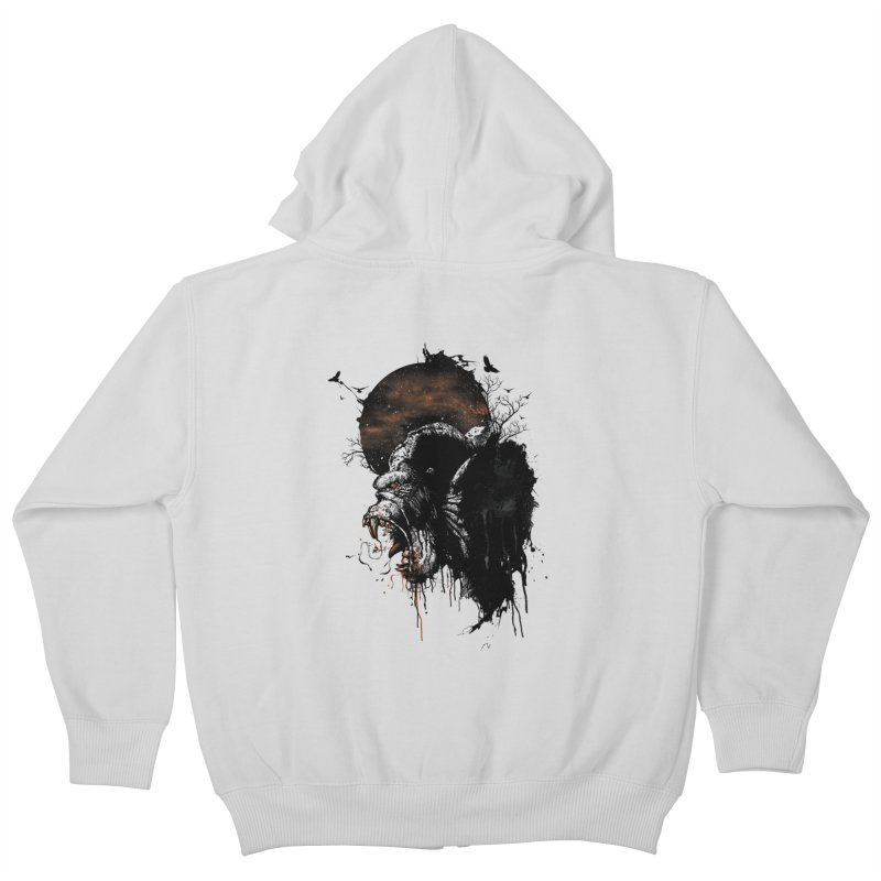 Raging Gorilla Kids Zip-Up Hoody by mitchdosdos's Shop