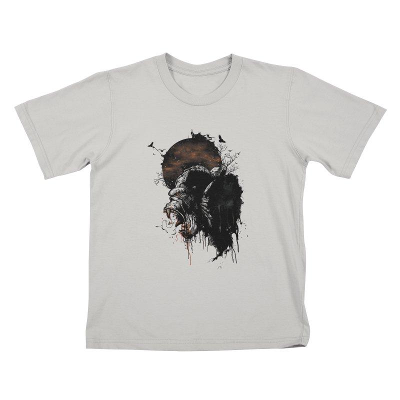 Raging Gorilla Kids T-shirt by mitchdosdos's Shop