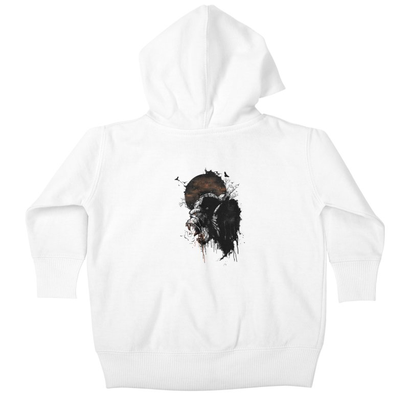 Raging Gorilla Kids Baby Zip-Up Hoody by mitchdosdos's Shop