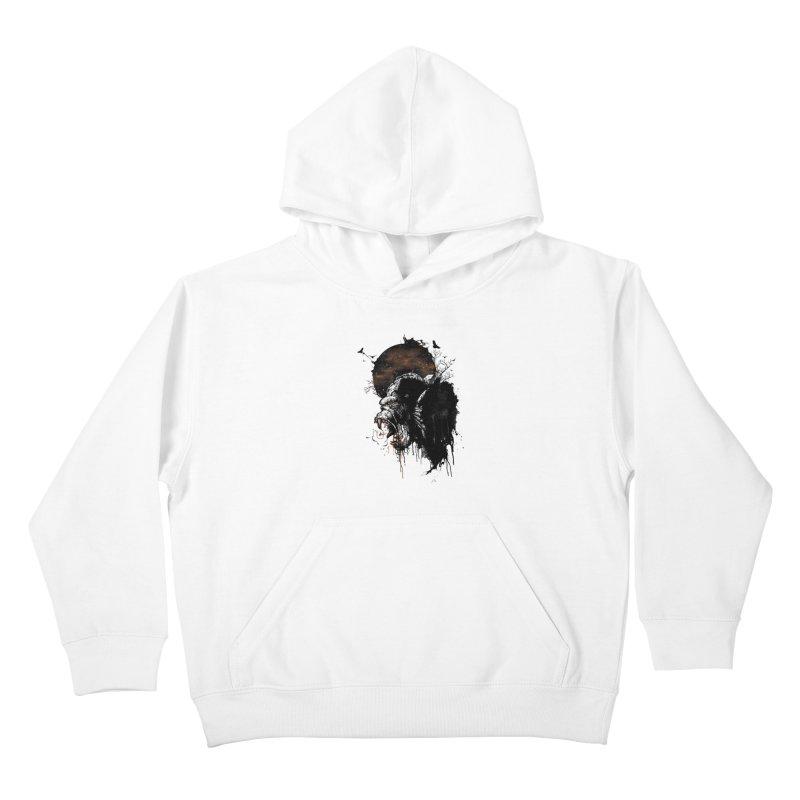 Raging Gorilla Kids Pullover Hoody by mitchdosdos's Shop