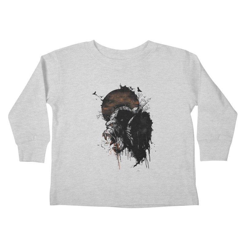 Raging Gorilla Kids Toddler Longsleeve T-Shirt by mitchdosdos's Shop