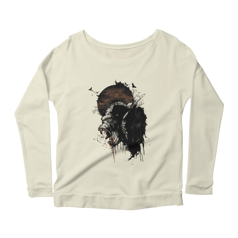 Raging Gorilla Women's Longsleeve Scoopneck  by mitchdosdos's Shop
