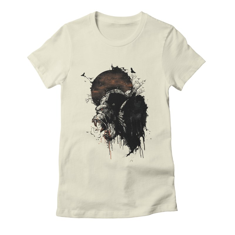 Raging Gorilla Women's Fitted T-Shirt by mitchdosdos's Shop