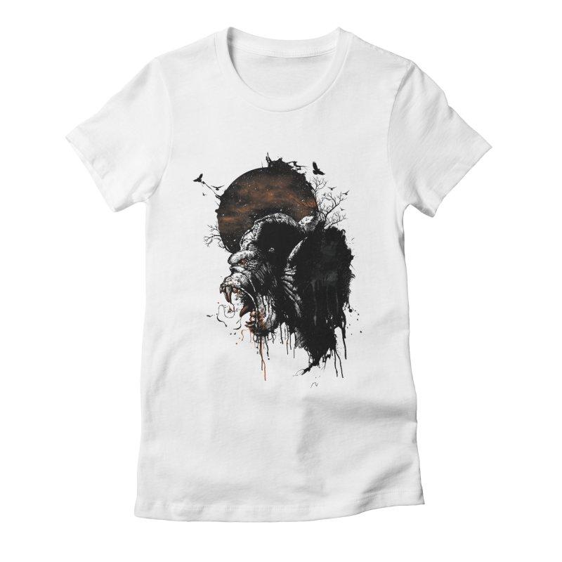 Raging Gorilla Women's Fitted T-Shirt by mitchdosdos's Shop