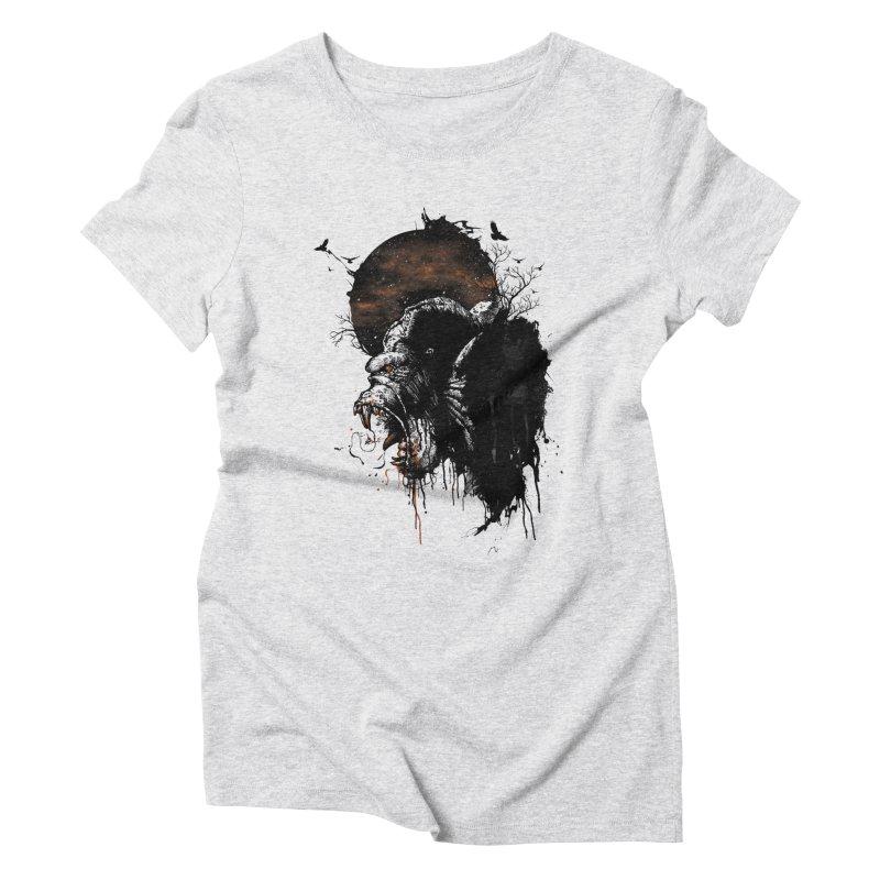 Raging Gorilla Women's Triblend T-Shirt by mitchdosdos's Shop