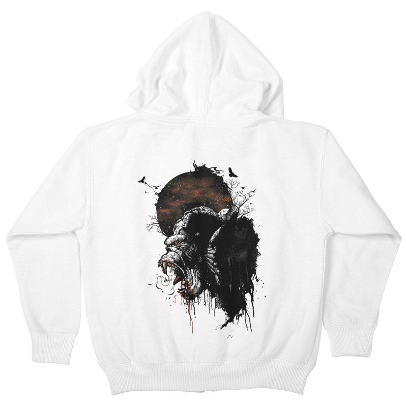 Raging Gorilla Kids Zip-Up Hoody by mitchdosdos's Shop