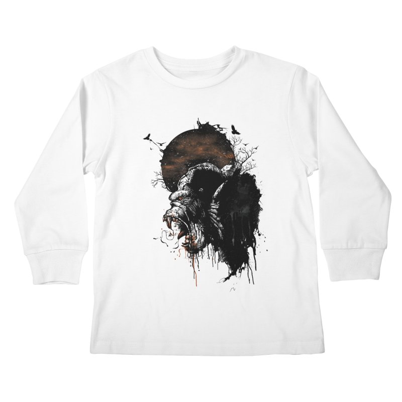 Raging Gorilla Kids Longsleeve T-Shirt by mitchdosdos's Shop