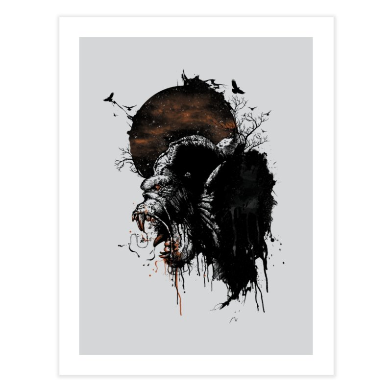 Raging Gorilla Home Fine Art Print by mitchdosdos's Shop