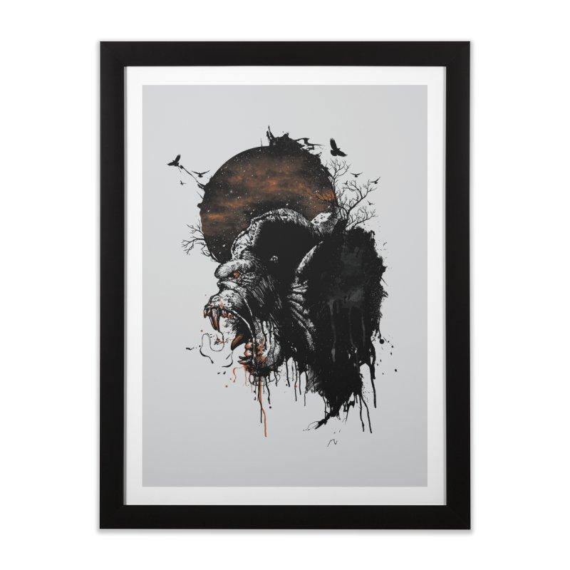 Raging Gorilla Home Framed Fine Art Print by mitchdosdos's Shop