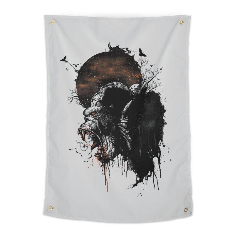 Raging Gorilla Home Tapestry by mitchdosdos's Shop