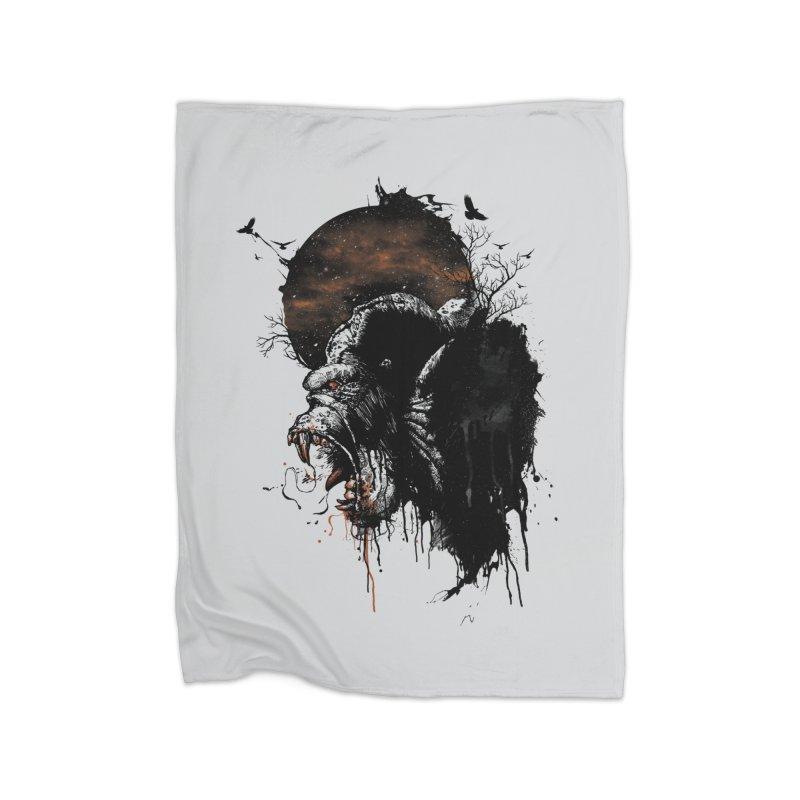 Raging Gorilla Home Blanket by mitchdosdos's Shop