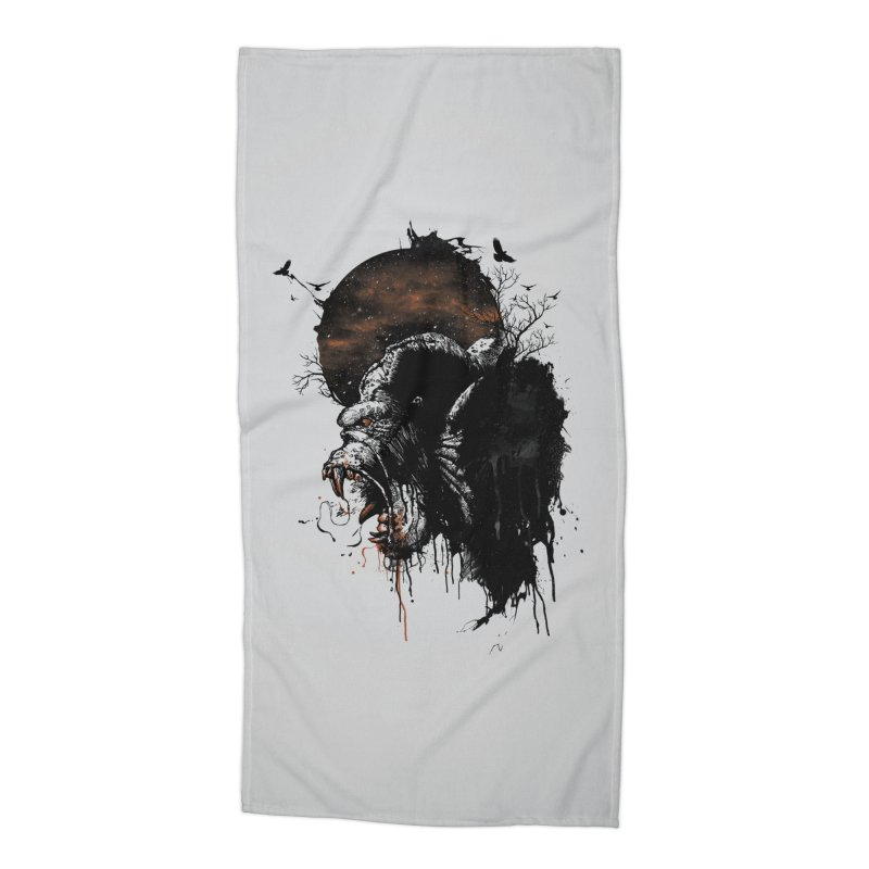 Raging Gorilla Accessories Beach Towel by mitchdosdos's Shop