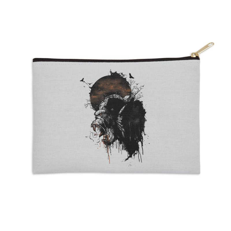 Raging Gorilla Accessories Zip Pouch by mitchdosdos's Shop