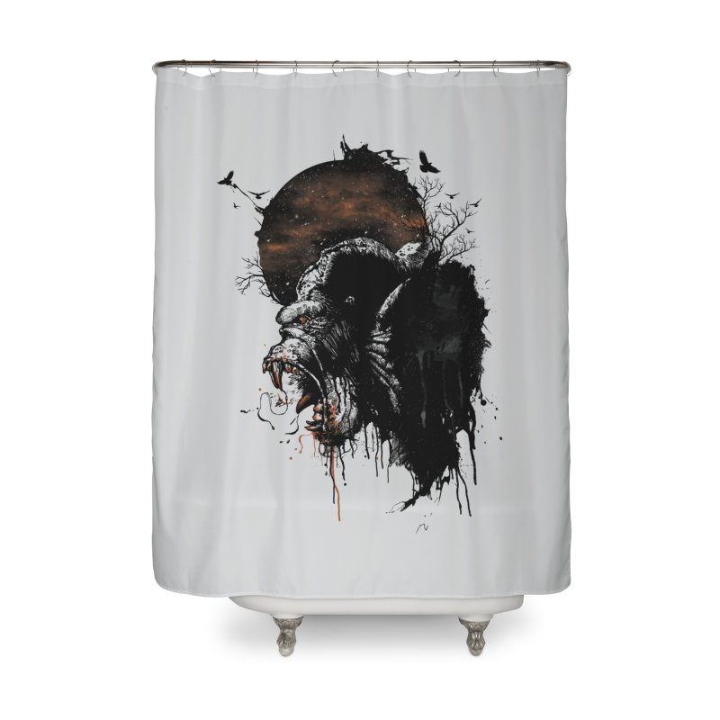 Raging Gorilla Home Shower Curtain by mitchdosdos's Shop