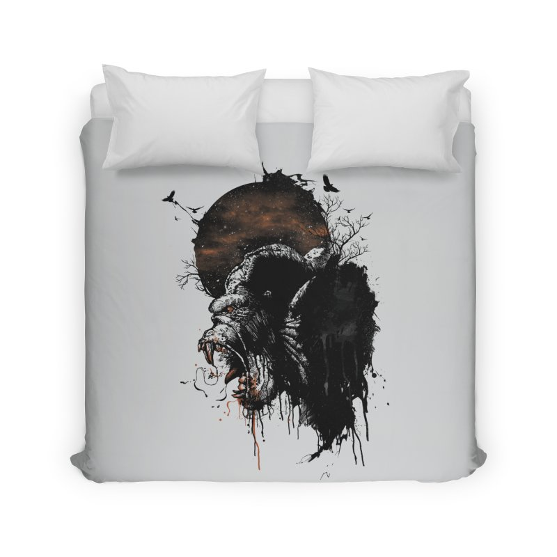Raging Gorilla Home Duvet by mitchdosdos's Shop