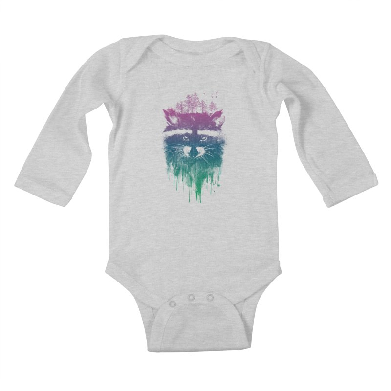 Raccoon Kids Baby Longsleeve Bodysuit by mitchdosdos's Shop