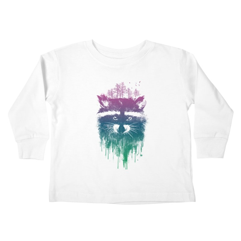 Raccoon Kids Toddler Longsleeve T-Shirt by mitchdosdos's Shop