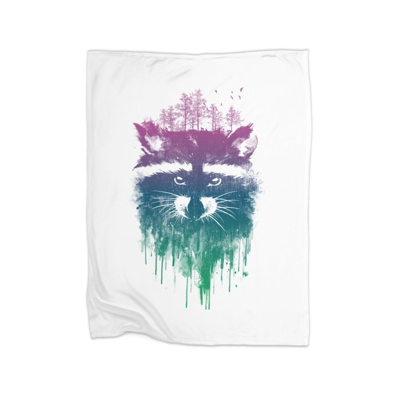 Raccoon Home Blanket by mitchdosdos's Shop