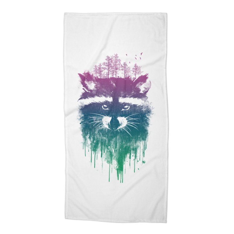 Raccoon Accessories Beach Towel by mitchdosdos's Shop