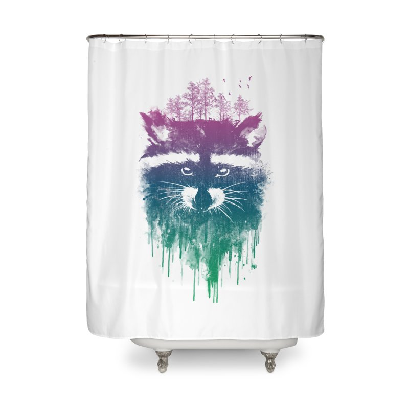 Raccoon Home Shower Curtain by mitchdosdos's Shop